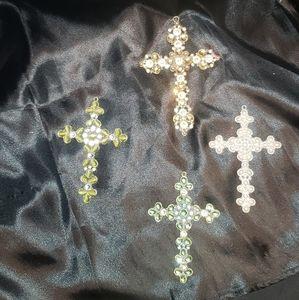 4 Bling crosses